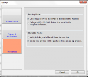 Outlook plugin for secure email