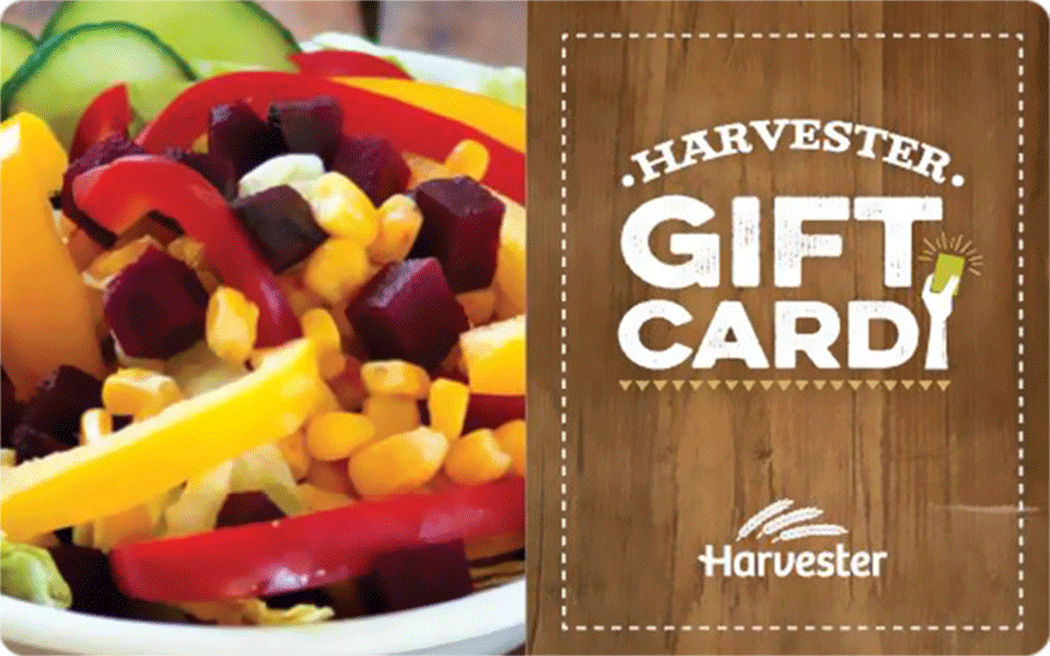 Harvester Gift card