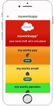 myworksapp on a phone